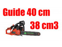 Tronçonneuse thermique 38cm3 guide 40cm Timberpro