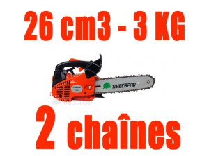 Tronconneuse Elagueuse 26cm3 TIMBERPRO 2 chaînes