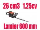 Taille haies thermique 26 cm3 lame 60cm