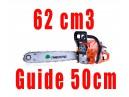 Tronçonneuse thermique 62cm3 guide 50cm Timberpro