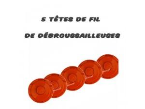 Cinq têtes de fil pour débroussailleuses